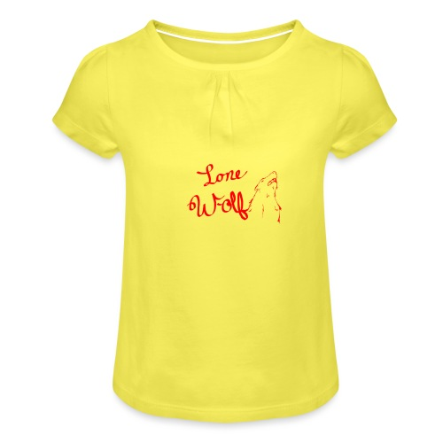 Lone Wolf Official - Girl's T-Shirt with Ruffles