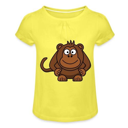 Monkey t-shirt - Pige T-shirt med flæser