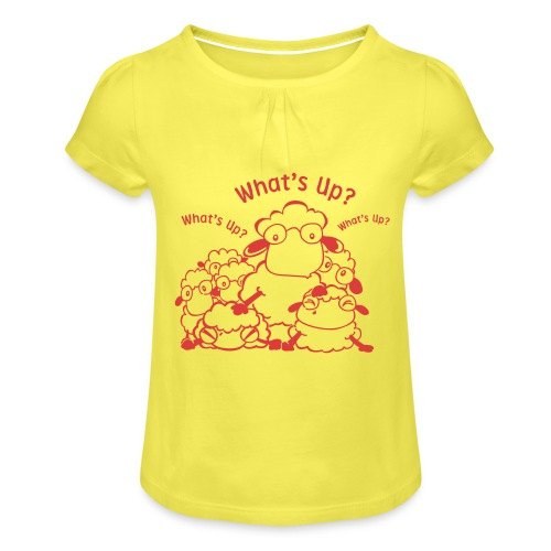 yendasheeps - Meisjes-T-shirt met plooien
