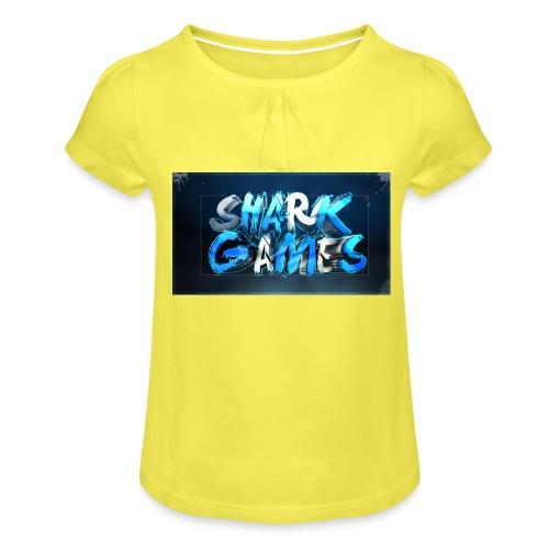SharkGames - Maglietta da ragazza con arricciatura