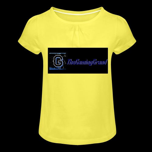 grand picture for black - Girl's T-Shirt with Ruffles