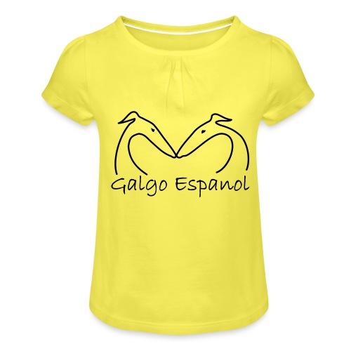 Galgopaar - Mädchen-T-Shirt mit Raffungen