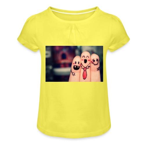 słodkie palce - Koszulka dziewczęca z marszczeniami