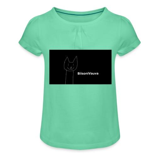 biisonivauva - Tyttöjen t-paita, jossa rypytyksiä