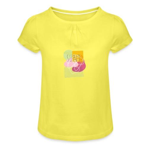 Suntime - Pige T-shirt med flæser