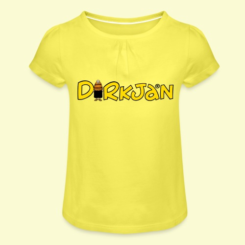 DIRKJAN Logo - Meisjes-T-shirt met plooien