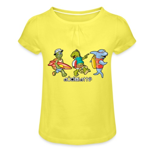 BEACH BUDDIES - Girl's T-Shirt with Ruffles