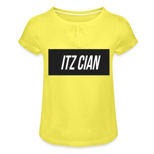 ITZ CIAN RECTANGLE - Girl's T-Shirt with Ruffles