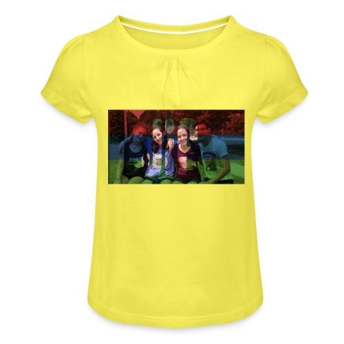 PV-Bike Trip Propaganda - Mädchen-T-Shirt mit Raffungen