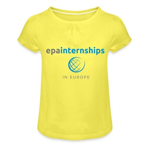 EPA Shirt Grey - Girl's T-Shirt with Ruffles