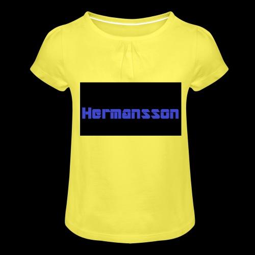 Hermansson Blå/Svart - T-shirt med rynkning flicka