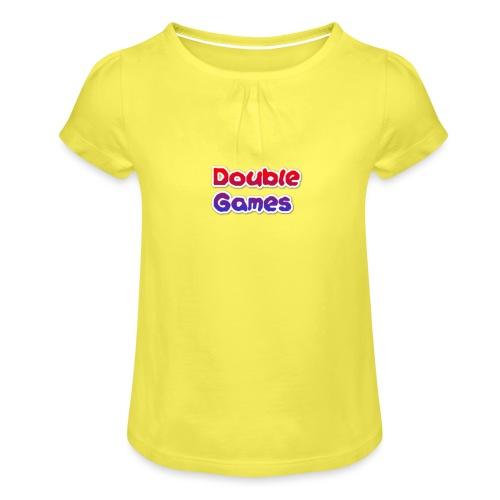 Double Games Tekst - Meisjes-T-shirt met plooien
