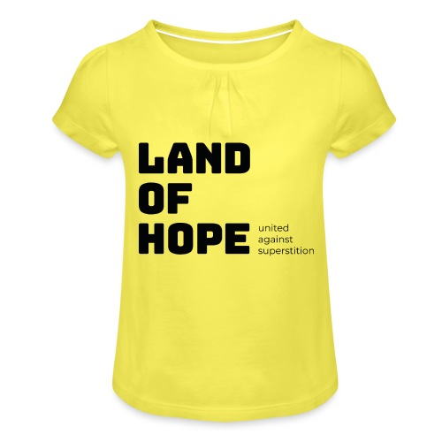 Land of Hope - Girl's T-Shirt with Ruffles