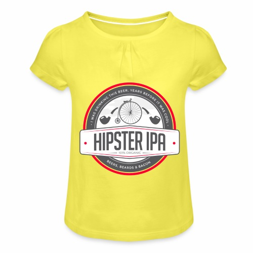 Hipster IPA - Girl's T-Shirt with Ruffles