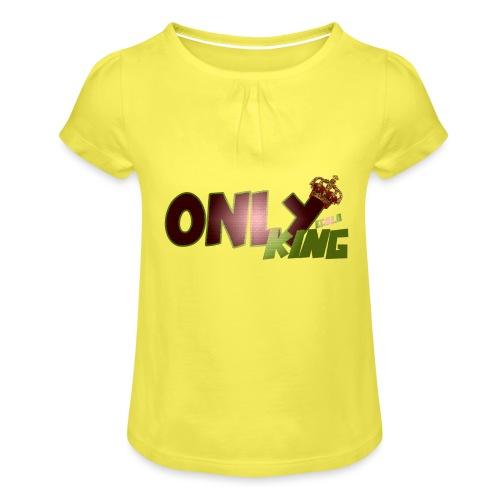 OnlyKing Ecolo design - T-shirt à fronces au col Fille