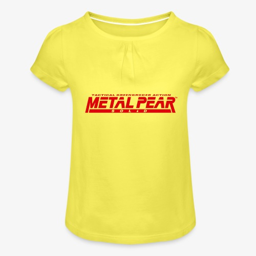Metal Pear Solid: Tactical Greengrocer Action - Girl's T-Shirt with Ruffles
