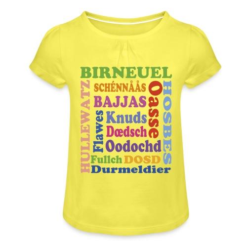 schimpf - Mädchen-T-Shirt mit Raffungen