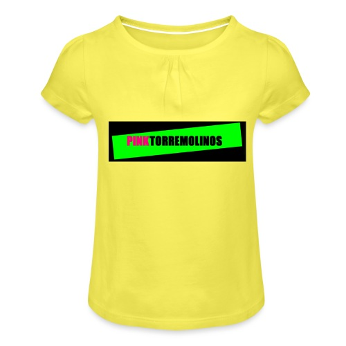 pinklogo - Meisjes-T-shirt met plooien