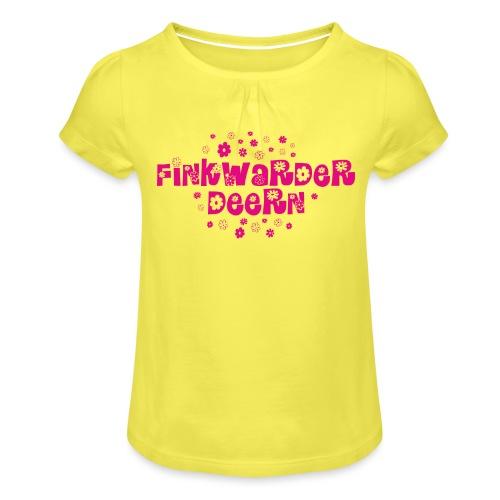 Finkwarder Deern blume - Mädchen-T-Shirt mit Raffungen