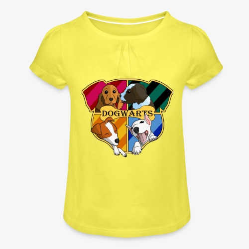 Dogwarts Logo - Girl's T-Shirt with Ruffles