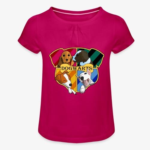 Dogwarts Logo - Girl's T-Shirt with Ruffles