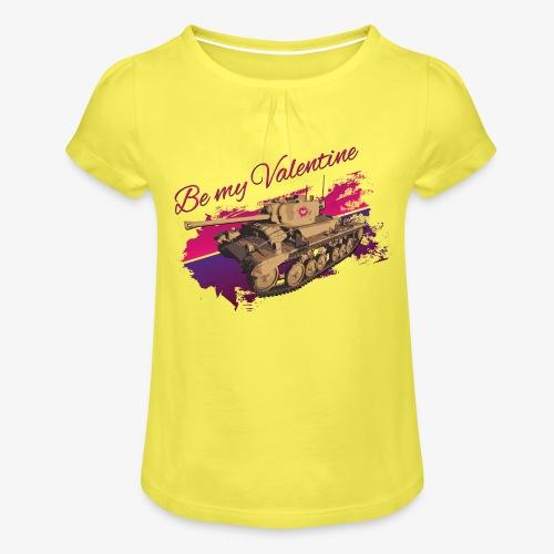 Be my Valentine Tank - Mädchen-T-Shirt mit Raffungen