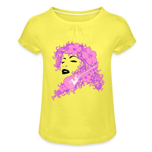 Lady Flo - Maglietta da ragazza con arricciatura