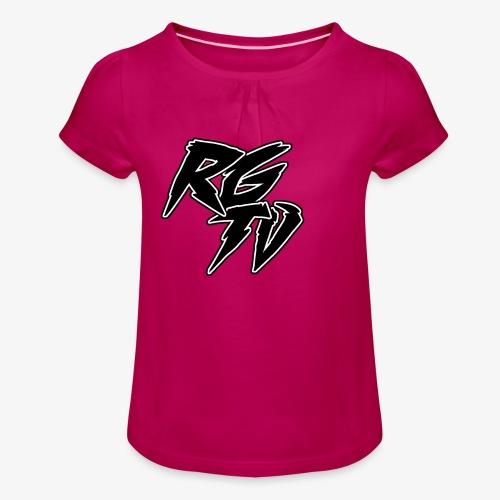 RGTV LOGO - Girl's T-Shirt with Ruffles