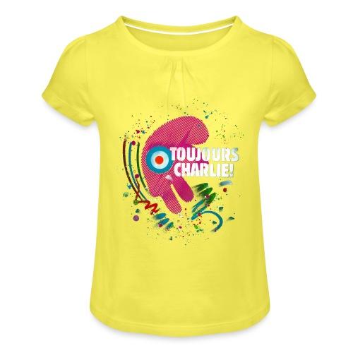 Toujours Charlie interprété par l'artiste C215 - T-shirt à fronces au col Fille