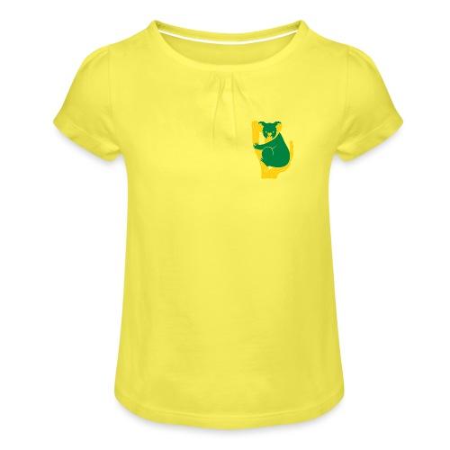 koala tree - Girl's T-Shirt with Ruffles