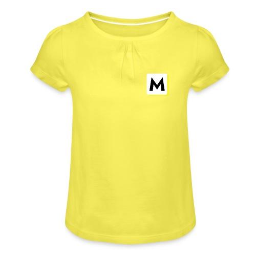 stor logo hvid - Pige T-shirt med flæser