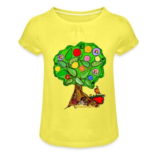 LebensBaum - Mädchen-T-Shirt mit Raffungen
