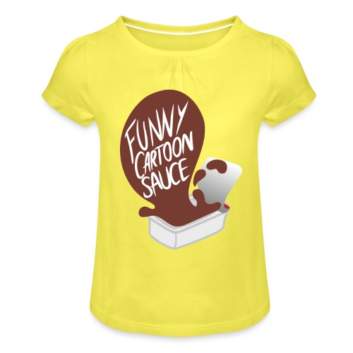 FUNNY CARTOON SAUCE - FEMALE - Girl's T-Shirt with Ruffles