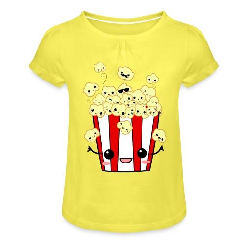 PopCorn - Camiseta para niña con drapeado