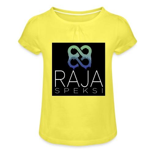 RajaSpeksin logo - Tyttöjen t-paita, jossa rypytyksiä
