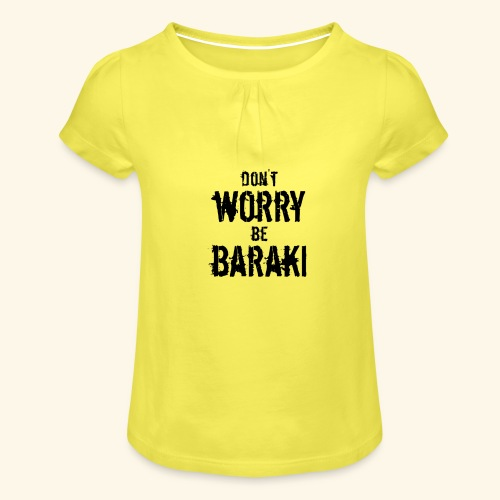Be Baraki (Noir) - T-shirt à fronces au col Fille