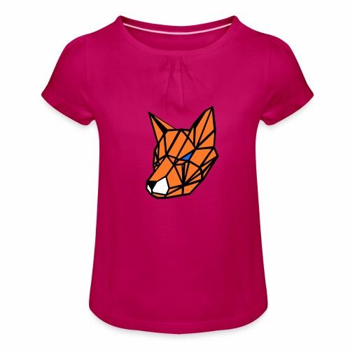 renard geometrique - T-shirt à fronces au col Fille