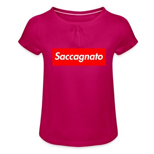 Saccagnato - Maglietta da ragazza con arricciatura