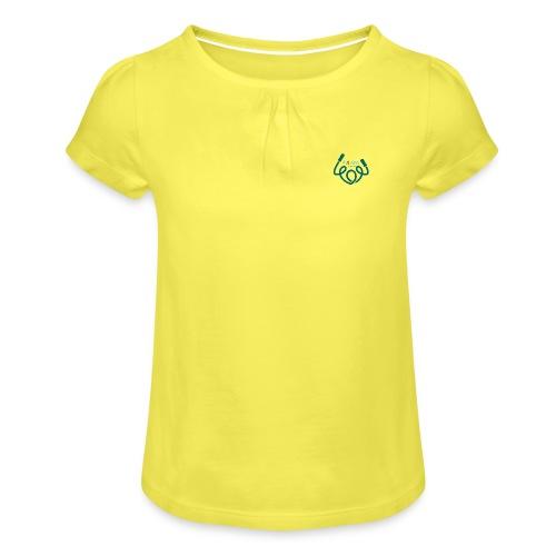 AFAfitness - Maglietta da ragazza con arricciatura