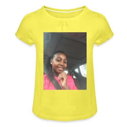 tee shirt personnalser par moi LeaFashonIndustri - T-shirt à fronces au col Fille