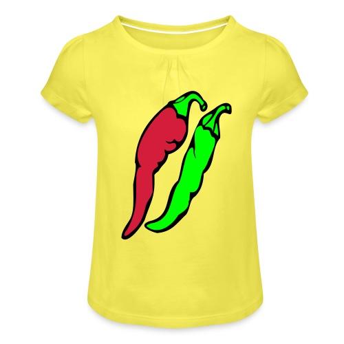 Chilli - Koszulka dziewczęca z marszczeniami
