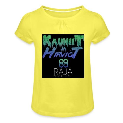 RajaSpeksi: Kauniit ja hirviöt - Tyttöjen t-paita, jossa rypytyksiä