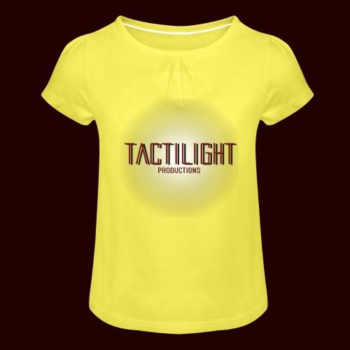 Tactilight Logo - Girl's T-Shirt with Ruffles