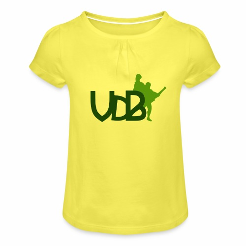 VdB green - Maglietta da ragazza con arricciatura