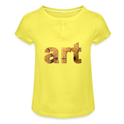 art - T-shirt à fronces au col Fille