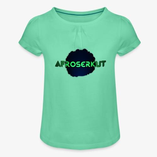 AfroSerkut LOGO - Tyttöjen t-paita, jossa rypytyksiä