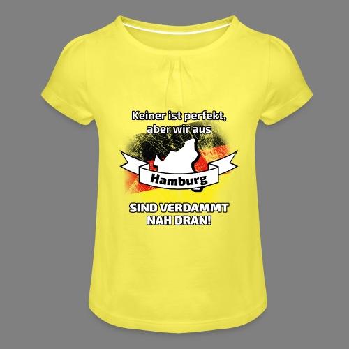 Perfekt Hamburg - Mädchen-T-Shirt mit Raffungen