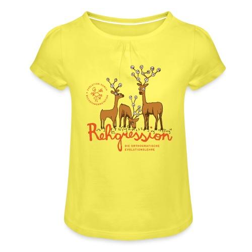 Rehgression - Mädchen-T-Shirt mit Raffungen