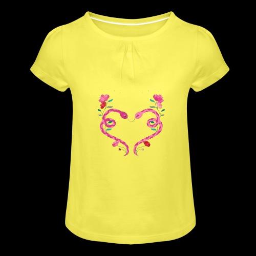 Coeur de serpents - T-shirt à fronces au col Fille
