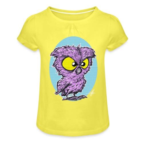 kautz druck2 - Mädchen-T-Shirt mit Raffungen